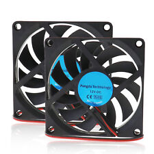 2X 80mm 12V 2Pin DC Brushless Cooling Fan Supply For Computer PC Laptop Cooling