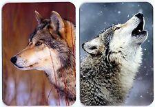 Wolf fridge magnet 2 pcs