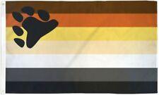 Bear Flag 3x5 LGBTQIA Bear Pride Bear Cub Rainbow Flag Intl Bear Brotherhood MLM