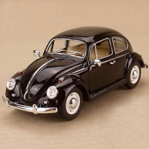 1967 Volkswagen Classical Beetle Black Model Car 1:24 17cm DieCast Metal Lrg OLP