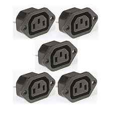 5 x IEC FEMALE Chassis Mains Kettle Socket mounting 240V PLUG 10A CABLE