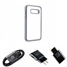 OEM Adapter & Charger KIT W/ Clear OtterBox Symmetry Case for Samsung Galaxy S8