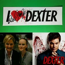 I LOVE ❤ DEXTER SIGNED AUTOGRAPHED BY DENISE CROSBY WHITE 3X9 TV BUMPER STICKER