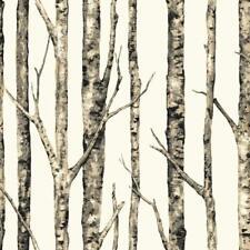 York Wallcoverings LW5835 Birch Trees Wallpaper, Browns, White
