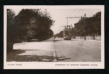 Lancs Lancashire LYTHAM Lowther Gardens Tram early RP PPC pre 1919