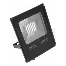 30W SMD Outdoor LED Flood Light 6000K Daylight IP65 Black Waterproof