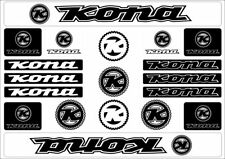 KONA Bicycle Bike Frame Decals Sticker Adhesive Graphic Vinyl Aufkleber Black