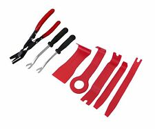 8PC CAR TRIM AND MOULDING TOOL SET UPHOLSTERY REMOVER FASTENER + PRY BAR + PLIER