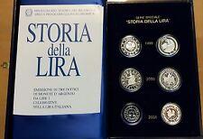"""1999/2001 - Serie """"Storia della Lira"""" in confezione della zecca - in argento. FS"""