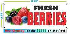 Full Color Fresh Berries Banner Sign New Xl Larger Size Best Quality for the $