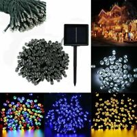 100 200 500 LED String Solar Fairy Lights Garden Christmas Valentine Party Decor