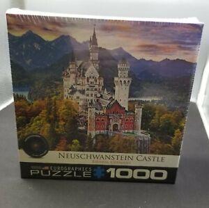 "Neuschwanstein Castle Bavaria Germany Puzzle (1000 pc 19""x26"") Scenic Landscape"