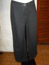 Pantalon leger coton noir rayé COP COPINE ATOLL 42FR brodé papillon 18na16