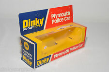 DINKY TOYS 244 PLYMOUTH POLICE CAR ORIGINAL EMPTY BOX EXCELLENT CONDITION