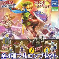 Hyrule Warriors Stand Figure set of 4 The Legend of Zelda Gashapon New Japan