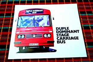 DUPLE DOMINANT STAGE CARRIAGE BUS 1975 SALES BROCHURE MINT CONDITION