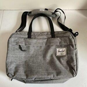 Herschel Supply Carry On Bag Gray Crossbody Straps Zip Travel