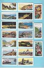 CIGARETTE/TRADE/CARDS. Ewbanks Tea. PORTS & RESORTS.(1960). (Complete Set of 50)