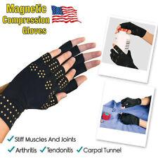2Pcs Gloves Gel Filled Thumb Hand Wrist Support Arthritis Compression Magne Y DD