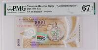 Vanuatu 1000 VATU 2020 P new Comm. Low # 246 Polymer SUPERB GEM UNC PMG 67  EPQ