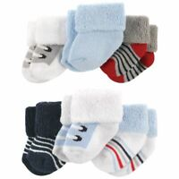 Luvable Friends Boy Newborn Socks, 6-Pack, Boy Shoes