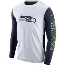 Nike NFL Seahawks Men's Long Sleeve T-Shirt XL White Blue Training Casual New