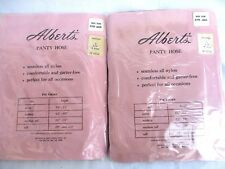 "VTG..LOT of 2..ALBERTS..BACK SEAM..BEIGE..PANTYHOSE..NEW..sz TALL 5'8"" & OVER"