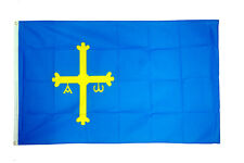 Asturias Flag Large 5 x 3' - Spain Spanish Region Province Espana Victory Cross
