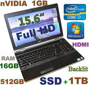 3D-Design DELL E6530 i7-2.9GHz (512GB SSD + 1TB 16GB) 15.6 FHD nVIDIA Backlit