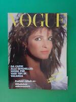 VOGUE Italia Giugno 1987 June 448 STEPHANIE SEYMOUR Cindy Crawford Susan Miner
