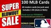100 MLB baseball card lot BLOWOUT SALE  + 1 HIT 🔥 + pick your BONUS card!!!!!!