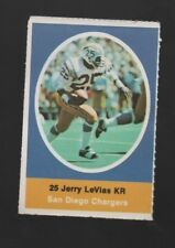 1972 SUNOCO STAMP JERRY LEVIAS SAN DIEGO CHARGERS