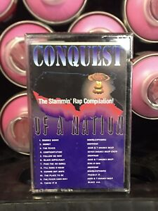 SEALED Conquest Of A Nation Slammin Rap Compilation Cassette Tape Rare PROMO 92