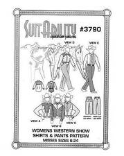 HORSE  WESTERN SUITABILITY  SHOW SHIRTS AND PANTS SEWING PATTERNS SET 3790