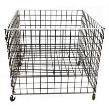 """Grid Dump Bin Adj. Shelf Merchandise Store Display 36"""" X 36"""" X 30"""" H Black New"""