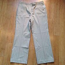 NWT!  Madison Studio Women's Stretch Size 16 White/Blue Stripe Cotton Blend Pant