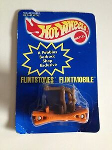 ☀️NEW 1994 Hot Wheels FLINTMOBILE Color Changing Die Cast Promo Toy Cake Topper