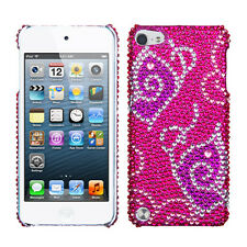 For iPod Touch 5 5th gen Crystal Diamond BLING Hard Case Cover Tattoo Butterfly