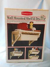 vtg Rubbermaid wall mounted shelf & drawer nib garage closet utility room