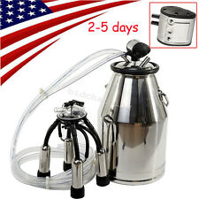 Usa 25L Portable Cow Milker 304 Stainless Steel Milking Bucket Tank Barrel Fda