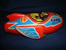 Vintage Rocket Racer #5 Friction Tin Toy Model # MF813 Made in China 1960's