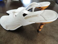 NEW Womens Size 10 M  * ANN MARINO * Fine Leather Bamboo Heel Sandals Shoes S-9