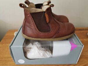 Bobux size 21 unisex boys girls toffee brown Jodphur boots