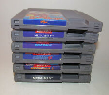 Mega Man 1 2 3 4 5 6 1-6 Nintendo NES Game Cartridges Authentic Original