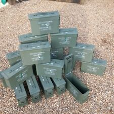 More details for empty ammo box grade 1 30cal ammo can steel tin tool box storage solution