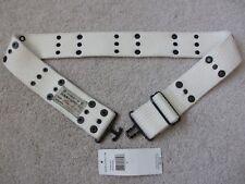 $55 NEW DENIM & and Supply Ralph Lauren Mens Interlock Ribbed Ivory Belt Size S