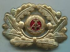 EAST GERMAN DDR 1986-90 NAVY OFFICERS GOLD HAT INSIGNIA
