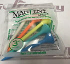 MARTINI Golf Tees - 1 pack of 5 assorted color ORIGINAL tees 3 1/4