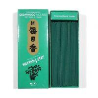 Japanese Nippon Kodo Morning Star CEDARWOOD Incense 200 Sticks & Incense Holder