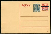 BAVARIA RED  MINT POSTCARD SOLID   BAR RE-IMPRINTED GERMANY GERMANIA 30 pfg